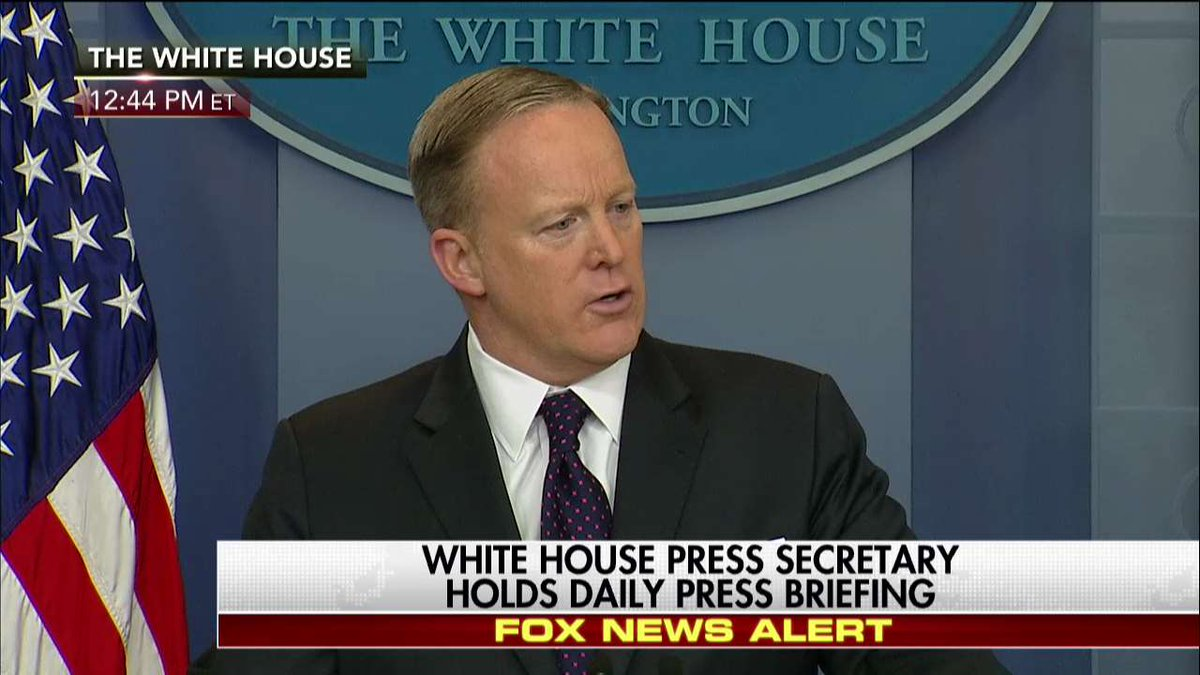 """.@PressSec on @POTUS saying health care deal will be """"an easy one"""" """"He was having a lighthearted moment."""""""