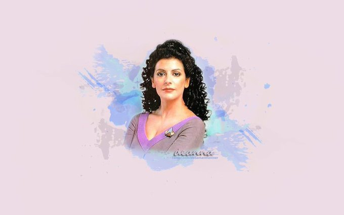 Happy Birthday, Marina Sirtis. A good character in TNG (there were only 3 or 4) made better in Peter David novels.