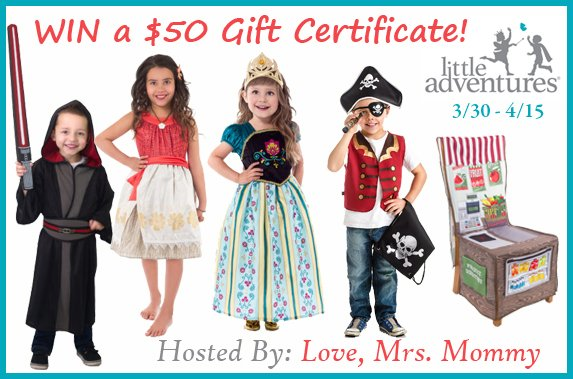 $50 Little Adventures Gift Certificate Giveaway!