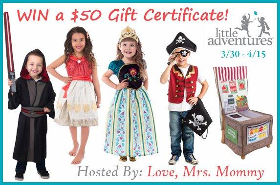 $50 Little Adventures Gift Certificate Giveaway!