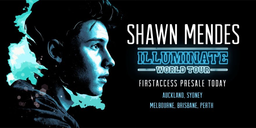 FirstAccess Presale today for Australia & NZ! 4pm local! Get your Presale codes ready