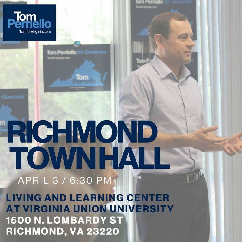 My Richmond and Virginia friends! Be there or be square. �� if you go let me know and we can meet up! @tomperriello https://t.co/vpD1dDABkE