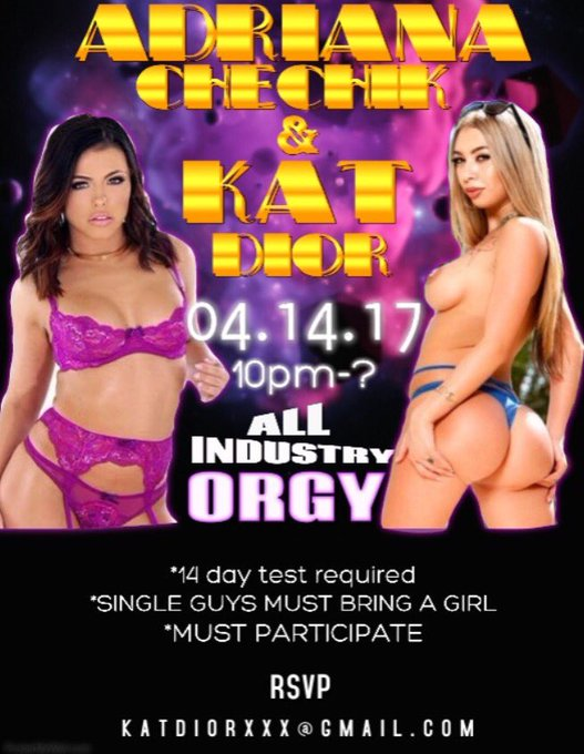 Let's Get Disgusting! Come play w/ me & @adrianachechik 😈💦 RSVP for address 😉💕 04.14.17 https://t.co