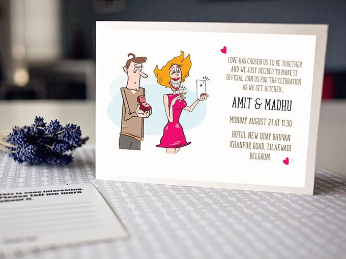 Free Illustrator Engagement Invitation   Illustrations by amit773 freebie