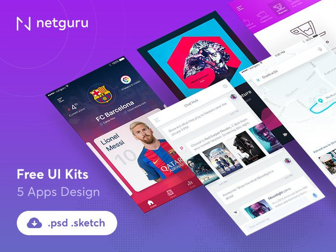 Mobile Apps Ui Kit   Ui kit by Maciej Kotula freebie
