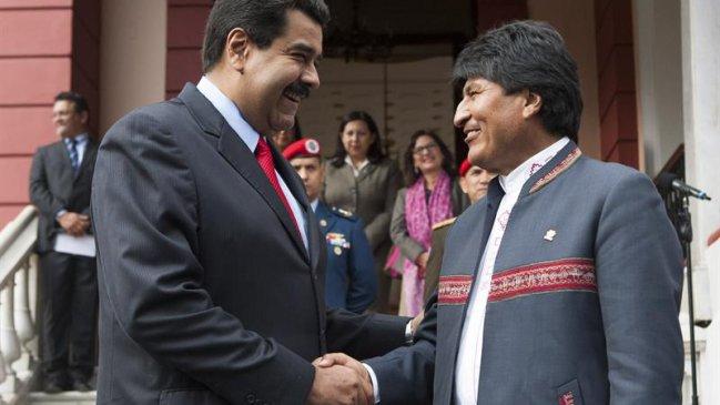 """Bolivia expresó su """"incondicional apoyo"""" a Venezuela ante nuevo """"acoso político"""""""