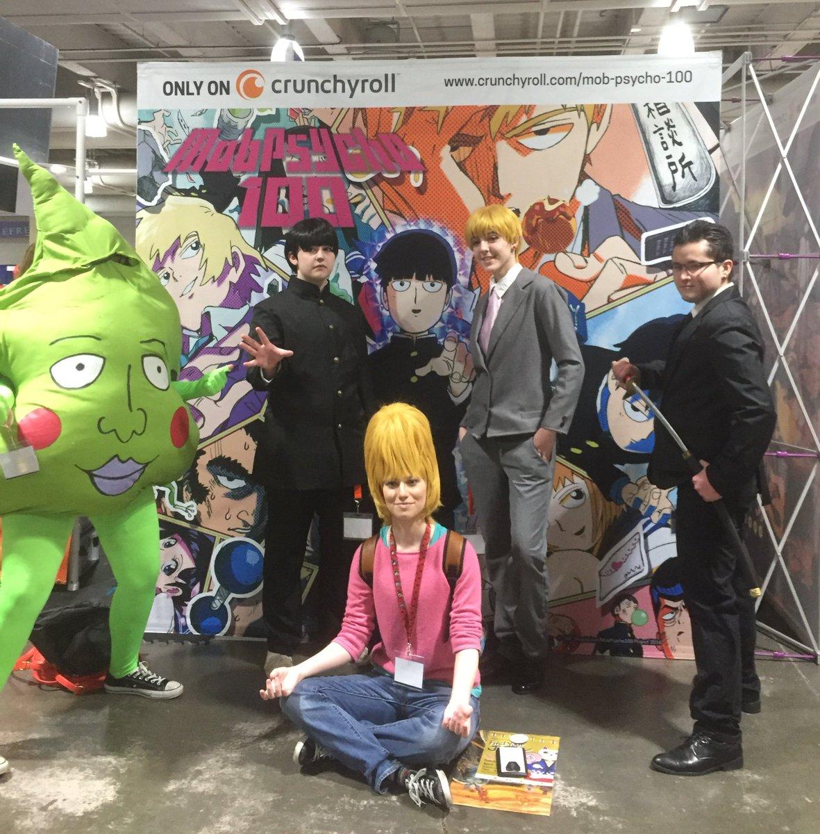 Hello from Boston!ボストンのアニメイベント・AnimeBostonでは、モブサイコも盛り上がっておりま