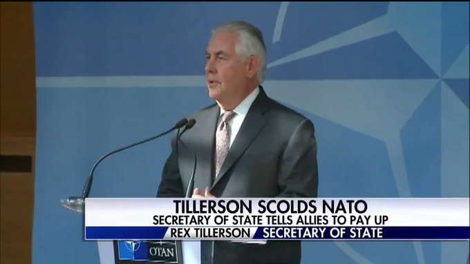 Secretary of State Rex Tillerson tells allies to pay up. #SpecialReport