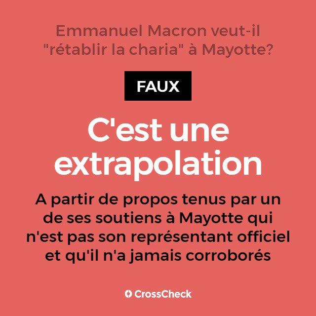 Emmanuel Macron accusé de vouloir instaurer la charia à Mayotte