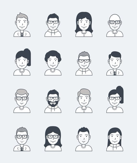 User Avatar Icons by Users Insights   Icons by User Insights freebie