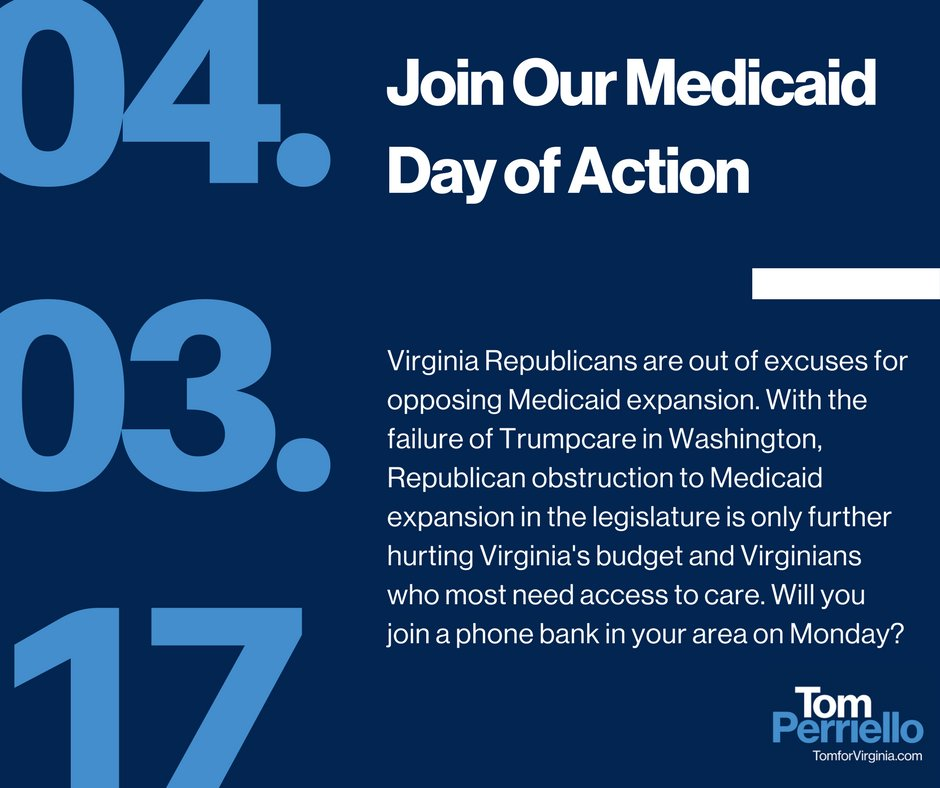 Virginia Republicans are out of excuses for opposing Medicaid expansion. Join us on Monday: https://t.co/e8yumZFU0h https://t.co/s9frPXRzwP