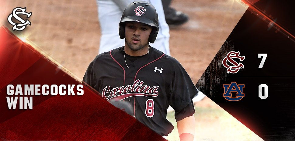7-0 #Gamecocks defeat Auburn! 19-7 and 6-2 in the SEC. Rubber game tomorrow 2 p.m. ET #ForeverToThee https://t.co/Fk9kQE4f6c