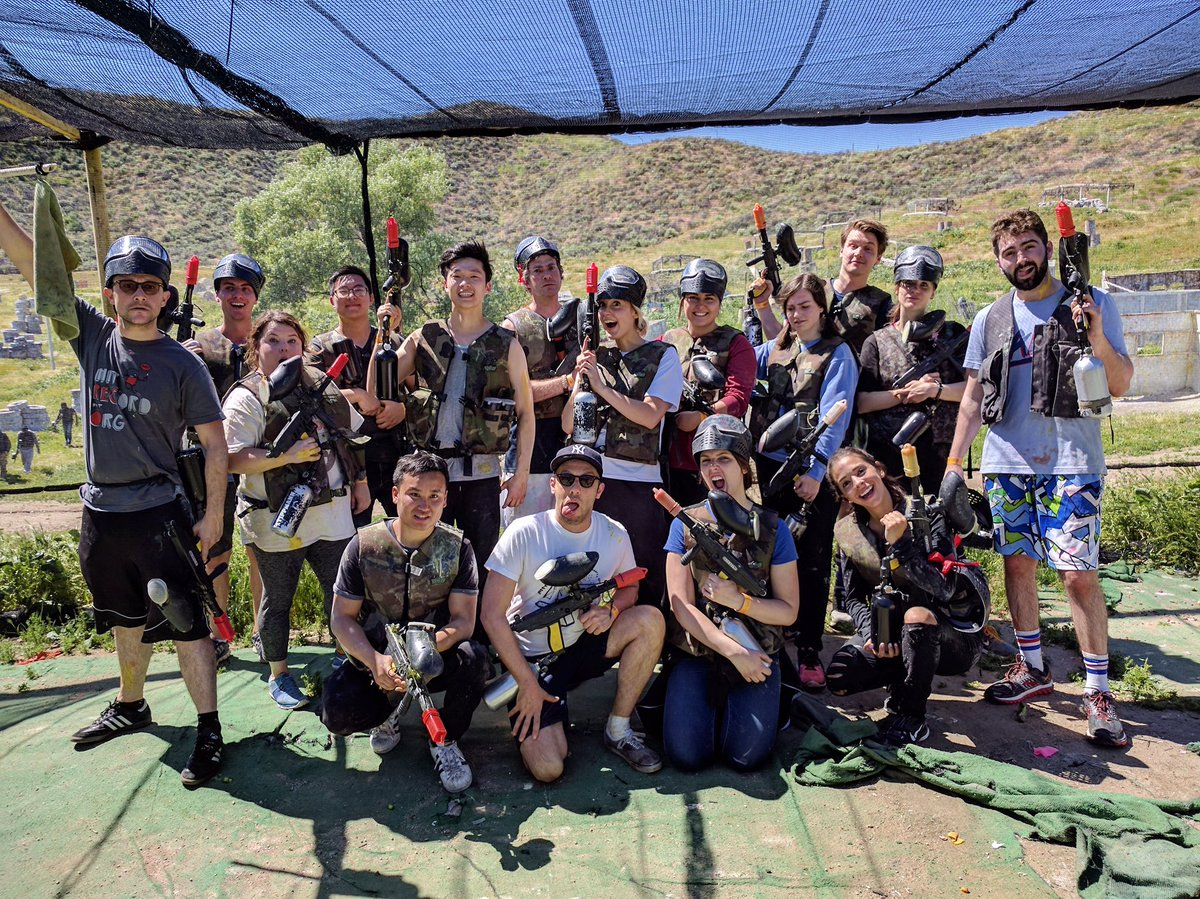 I love the smell of paintball in the morning!! @HITRECORD office showdown -- Red Team vs. Non-Red Team https://t.co/GZGjBy49lY