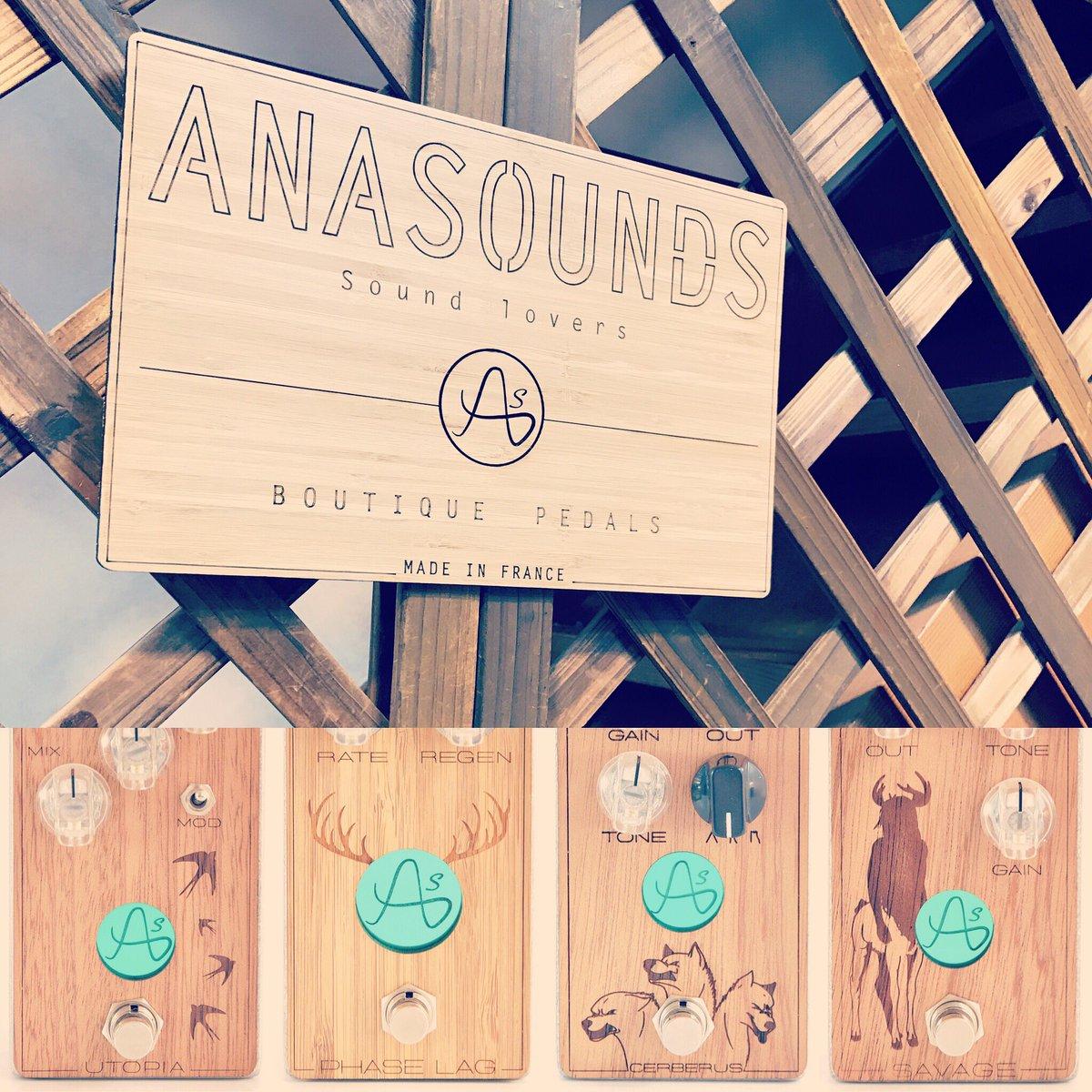 ANASOUNS エフェクター取扱展示購入店として、ブランドパネルを展示しましたー! #anasounds #utopi