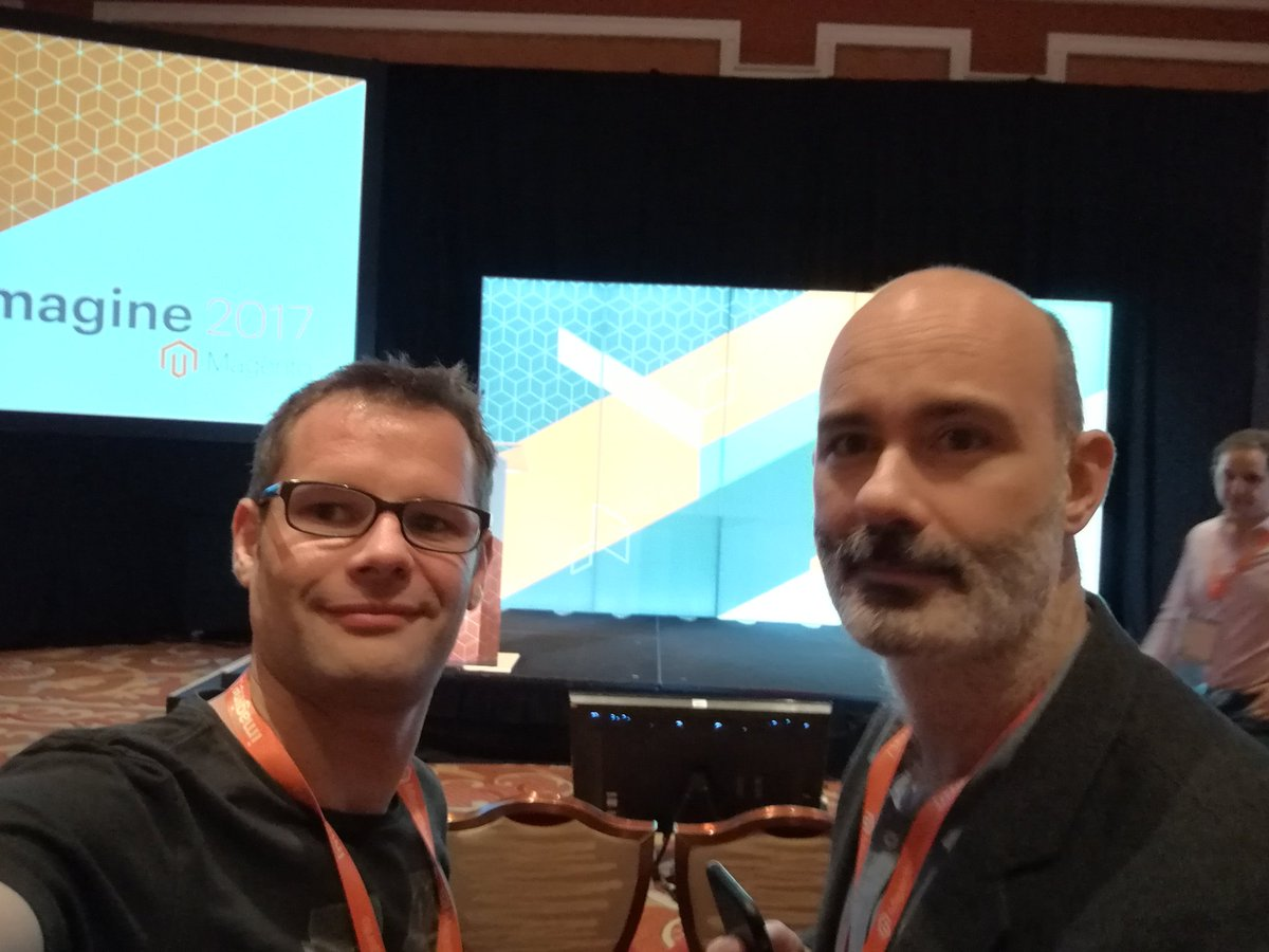 afoucret: With @gsautereau at #magentoimagine. Proudly representing @GroupeSmile at partner submit. https://t.co/QUazML2lZ7