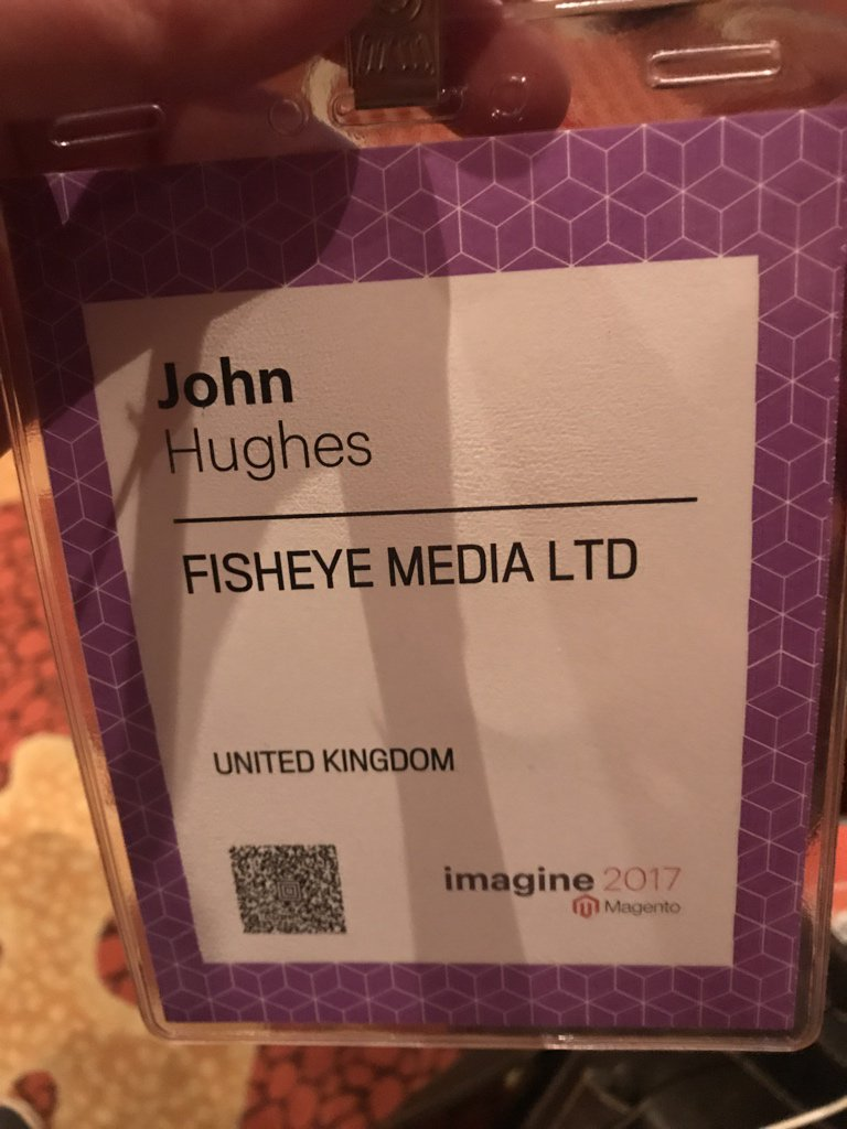 JohnHughes1984: Registered and ready for the #MagentoImagine partner summit https://t.co/wBjdO4vyJU