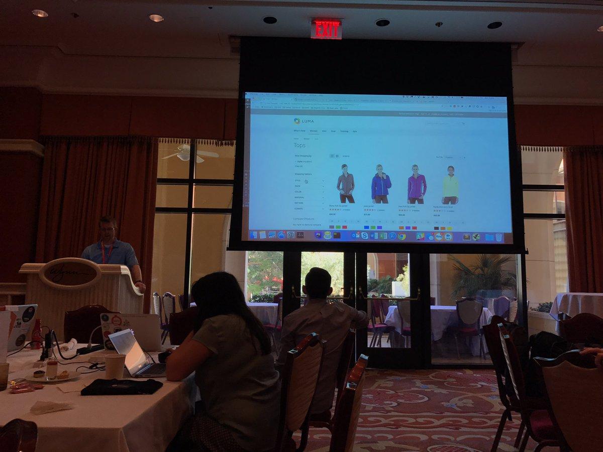 Blue_Bovine: #magentoimagine2017 #magentohackathon - demo 3 layered nav multiselect ! https://t.co/TkpZQgXJIp