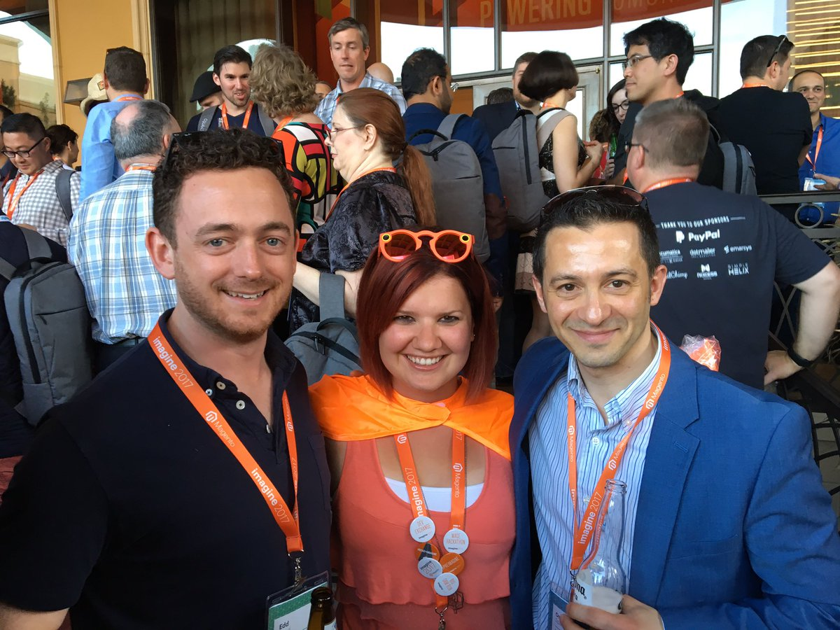 ospadano: At the core of #Magentoimagine is @sherrierohde with @eddr and I https://t.co/Y7CaxWoJ7G