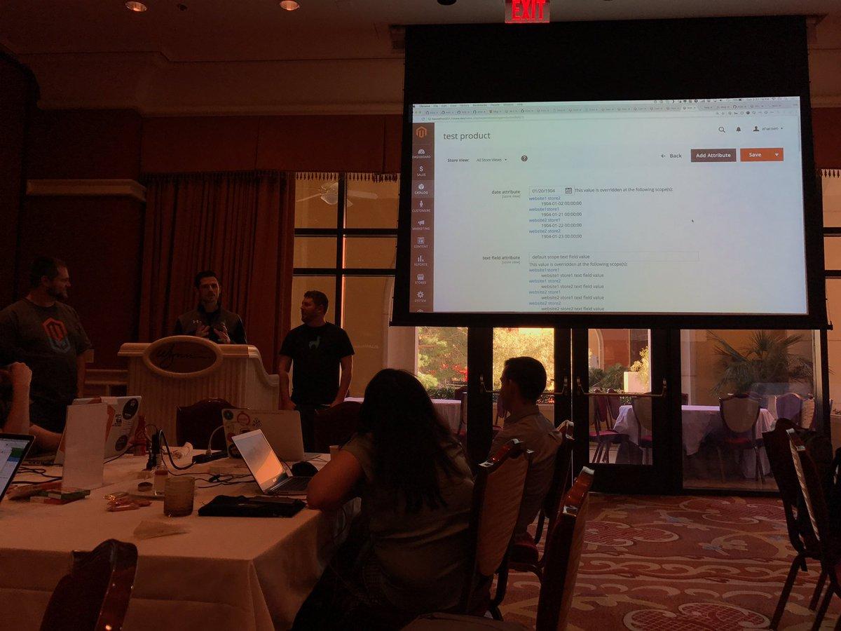 Blue_Bovine: #magentoimagine2017 #magentohackathon demo 7 - config scope data visibility https://t.co/LyrAlu5Jfn