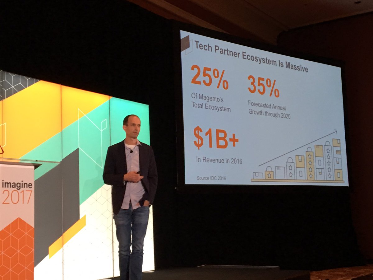 JoyDaniels: Massive growth for Technology Partners @magento #Magentoimagine https://t.co/6b7taYYus1