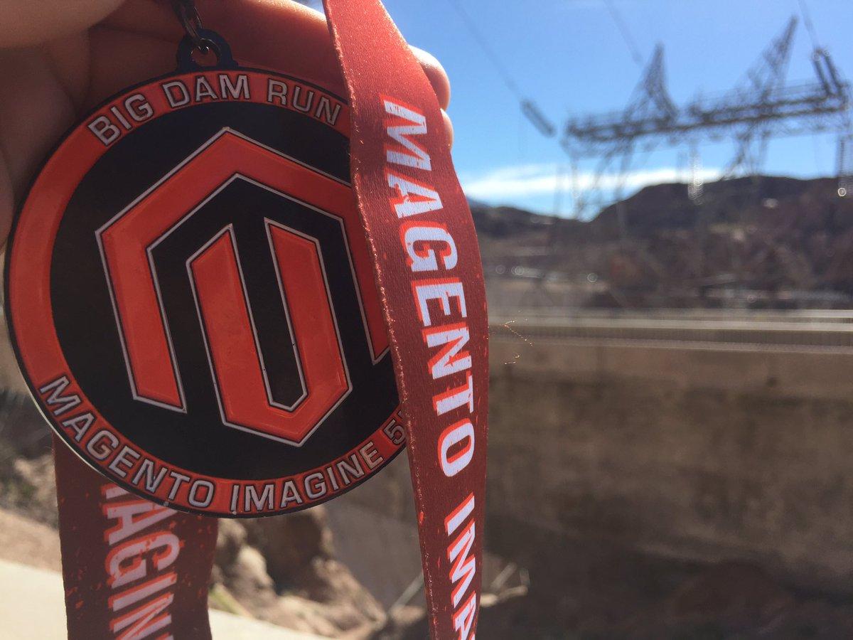 DreeZiegs: Big Dam Run. Success!! #Magentoimagine #roadToImagine @HumanElementA2 https://t.co/9j6iuzid9n