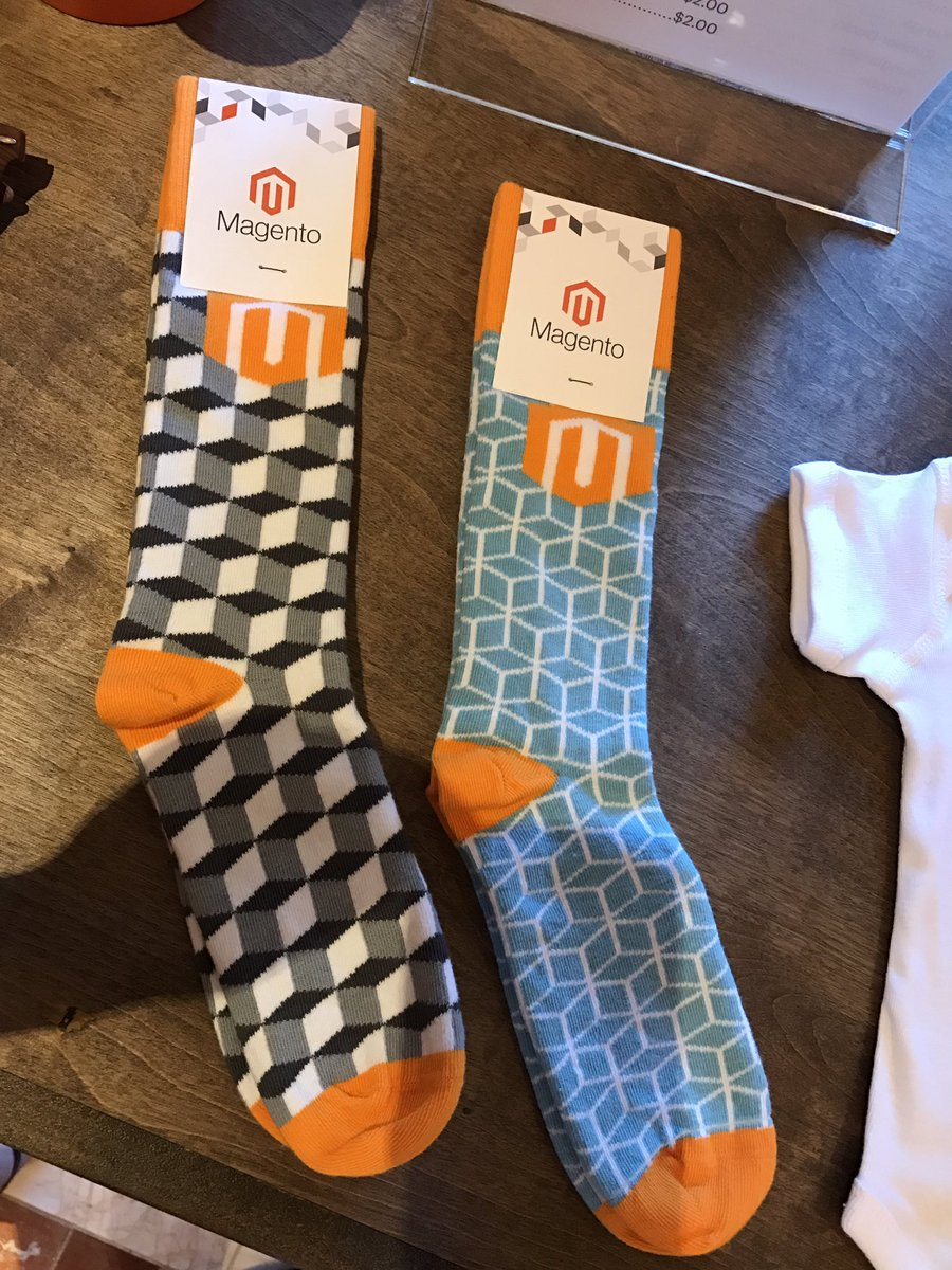 magentogirl: They did it again - Magento socks! Get em while you can at the swag store! #Magentoimagine https://t.co/ciXoUHZSUF