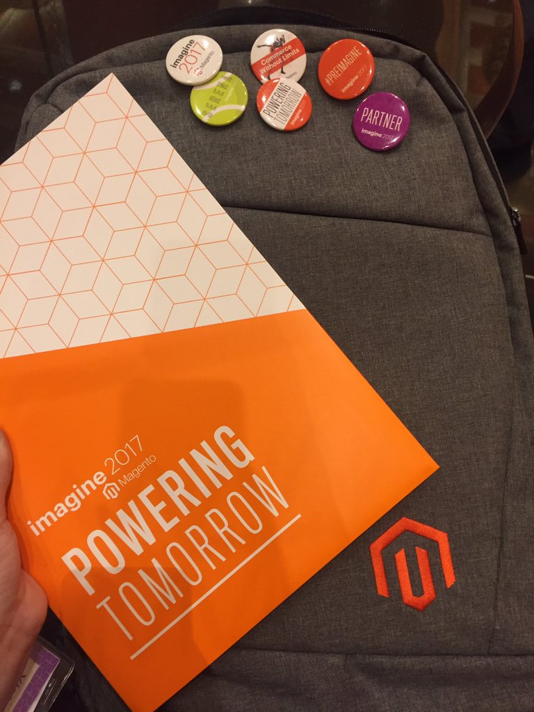 tory_bum: My Magento Imagine backpack has been pimped up as well :) #magentoimagine #magentoimagine2017 #atwix https://t.co/OeQkcoHMKB