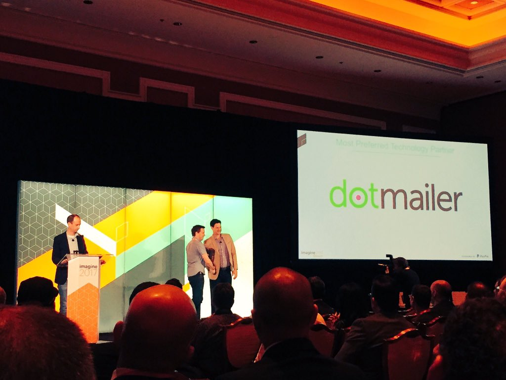 dotmailer: Thanks @Magento for honoring us with the Most Preferred Partner award. Great start to #MagentoImagine!! https://t.co/wDVtWyvGeV