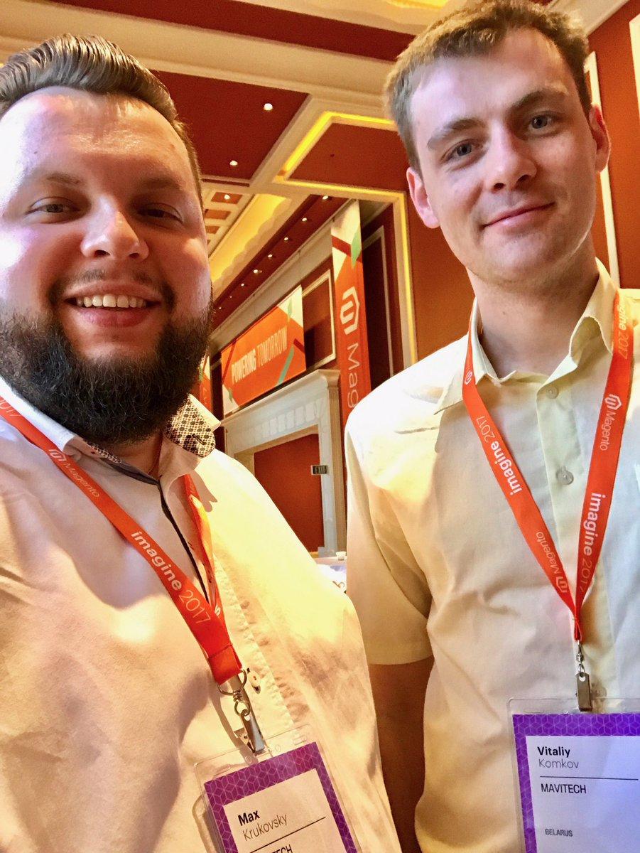 vitkomkov: @MavitechCom #Magentoimagine #magentoimagine2017 Registration passed! https://t.co/WeeBNXygYl