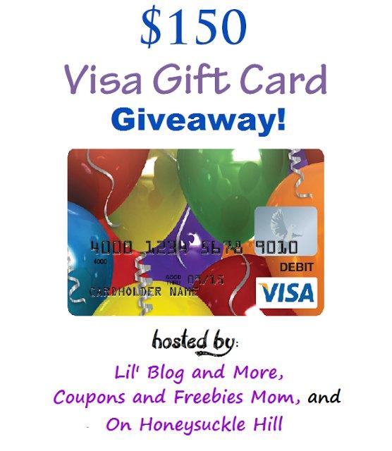 $150 Visa Gift Card #Giveaway Ends 4/21