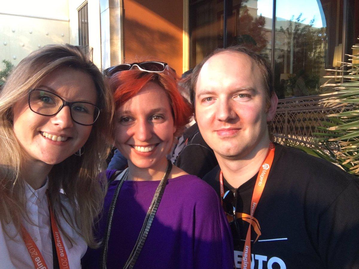 OlenaSadoma: Great to meet good friends st #MagentoImagine @molme @daim2k5 https://t.co/Xja0kCBHlT