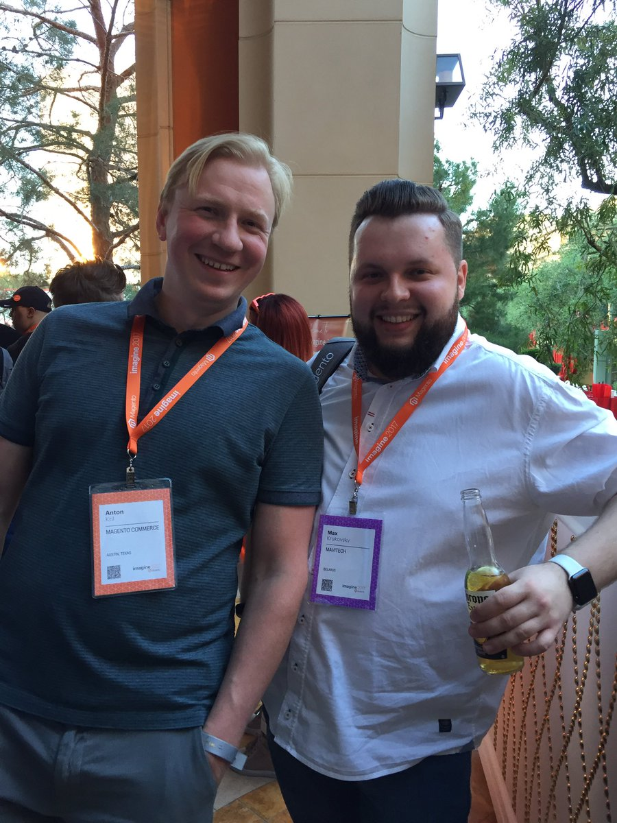 vitkomkov: @maxkrukovsky @AntonKril @MavitechCom @magento #Magentoimagine #magentoimagine2017 #LasVegas https://t.co/sGYqWHPd6Z