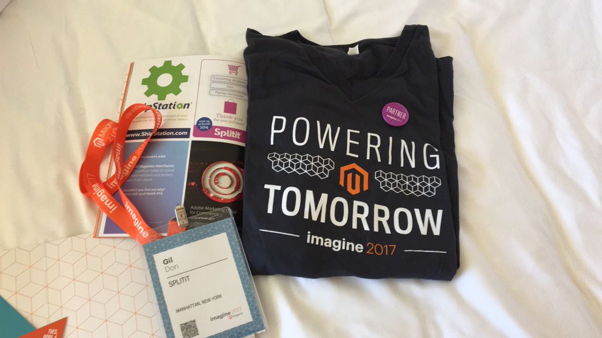 splitit_: Our @splitit_ team is getting ready! #MagentoImagine @magento come meet us at booth #104 https://t.co/Kwo9S05bU7