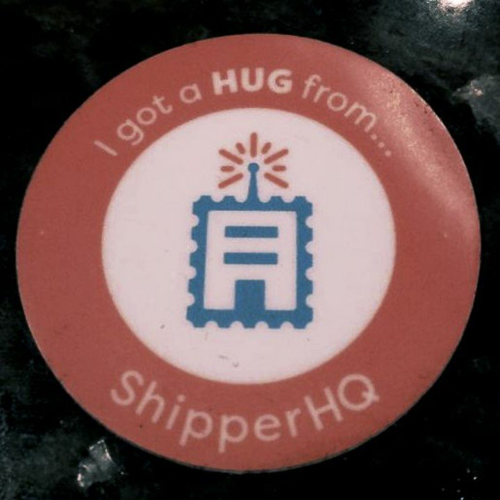 cmuench: Collected a @ShipperHQ sticker after a hug. #MagentoImagine https://t.co/70UfQIoGnJ