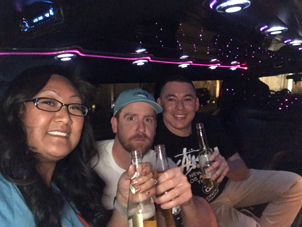 nexcess: Enjoying some champagne with @slasherxfooty (aka Zenen and Andy) in the Nexcess limo. #Magentoimagine https://t.co/HmGbfeh3mS