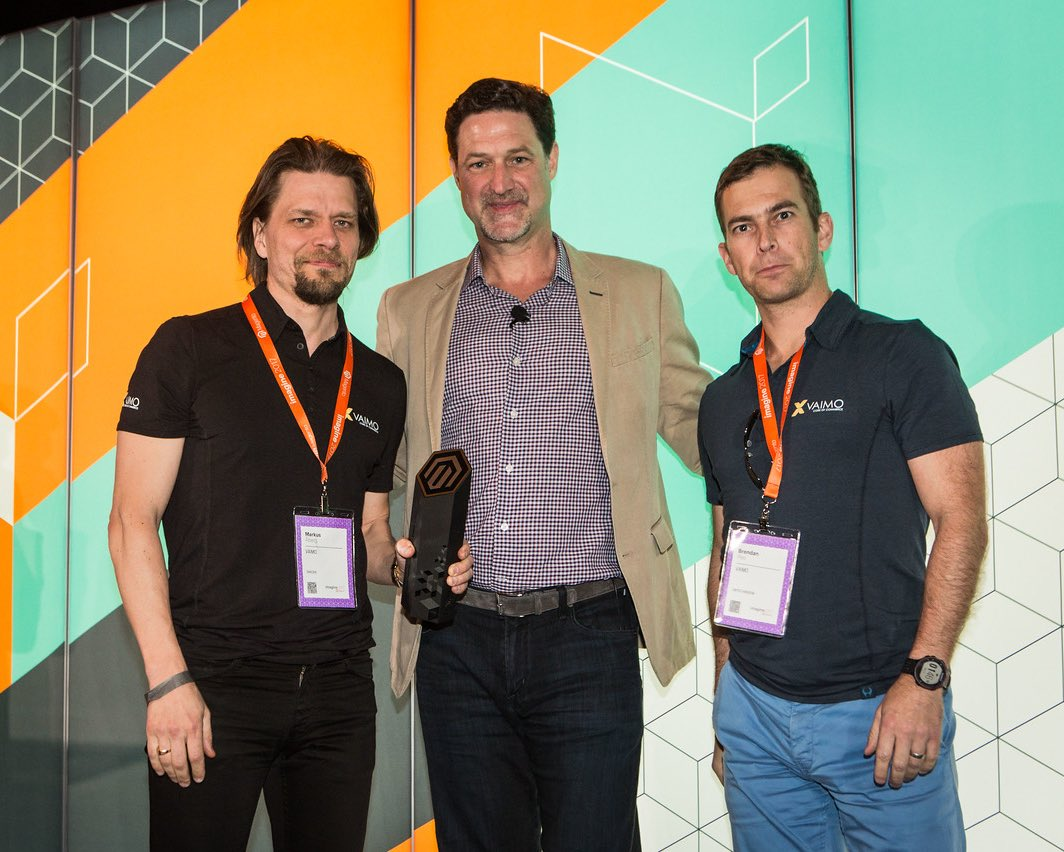 magento: Congratulations to @vaimoglobal, our Commercial Partner of the Year - EMEA.nn#MagentoImagine https://t.co/8TuyTM6JiJ