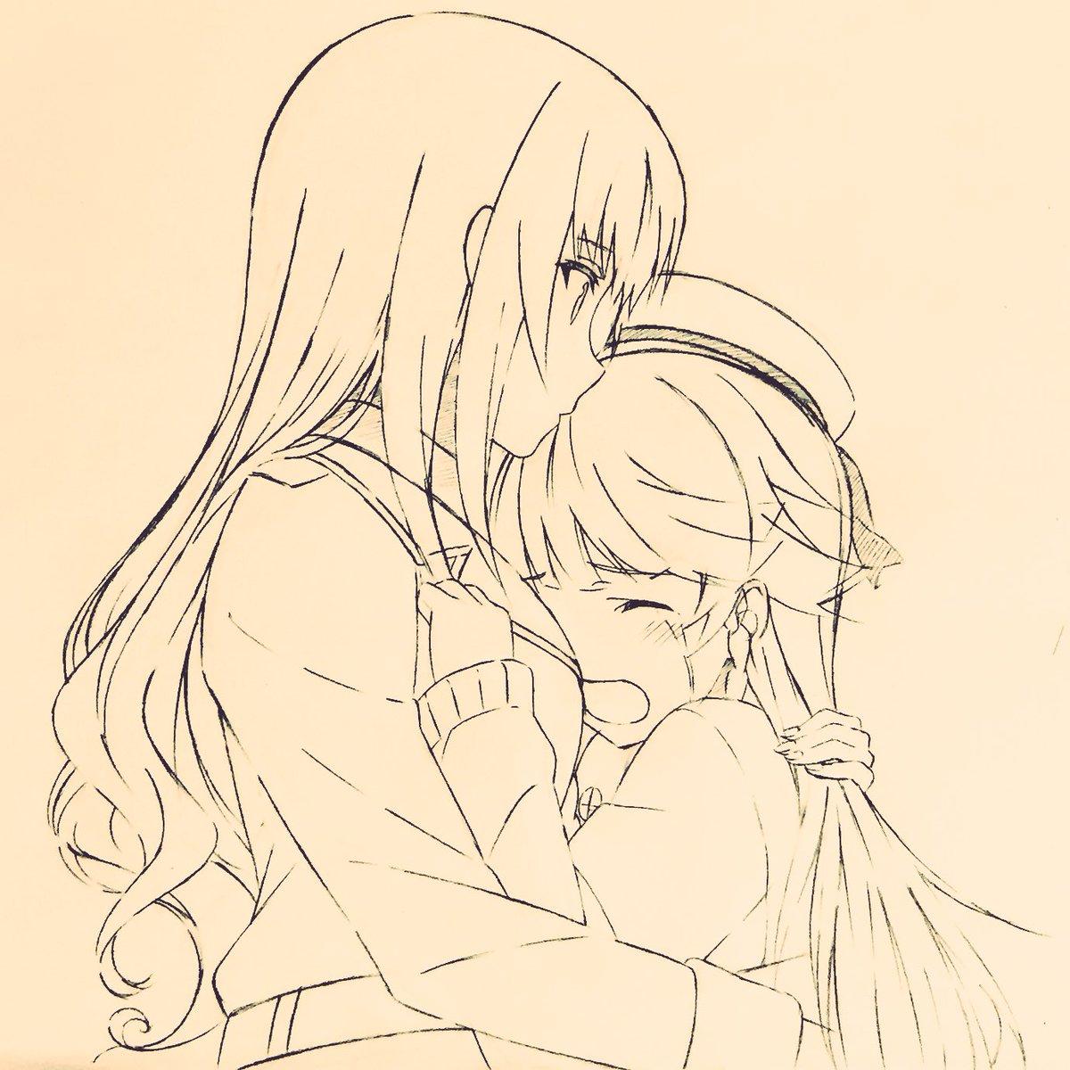 『ハイスクール・フリート』OVA記念イラスト作成中〜「納沙幸子がピンチ!」 #はいふり