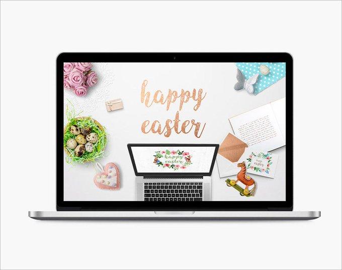 Easter Scene Mockup Generator easter free freebie freebies genertor macbook scene