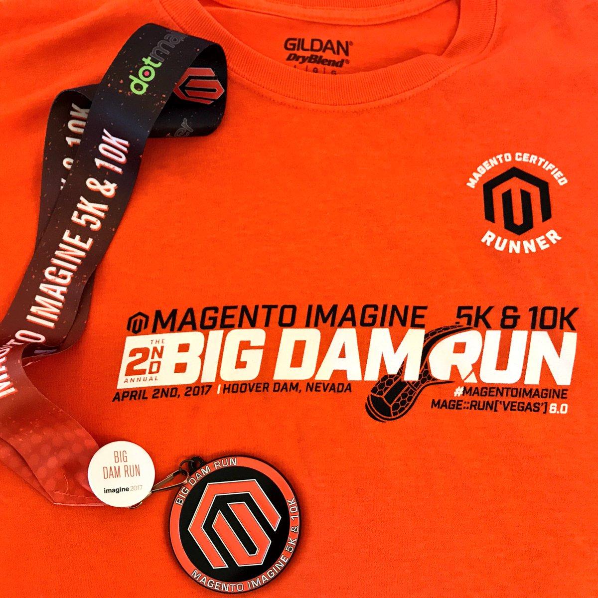 socialshark: @wagento Love the tee and finishers medal from the #bigdamrun! #Magentoimagine 🏃🏻 https://t.co/wrthBkAP6j