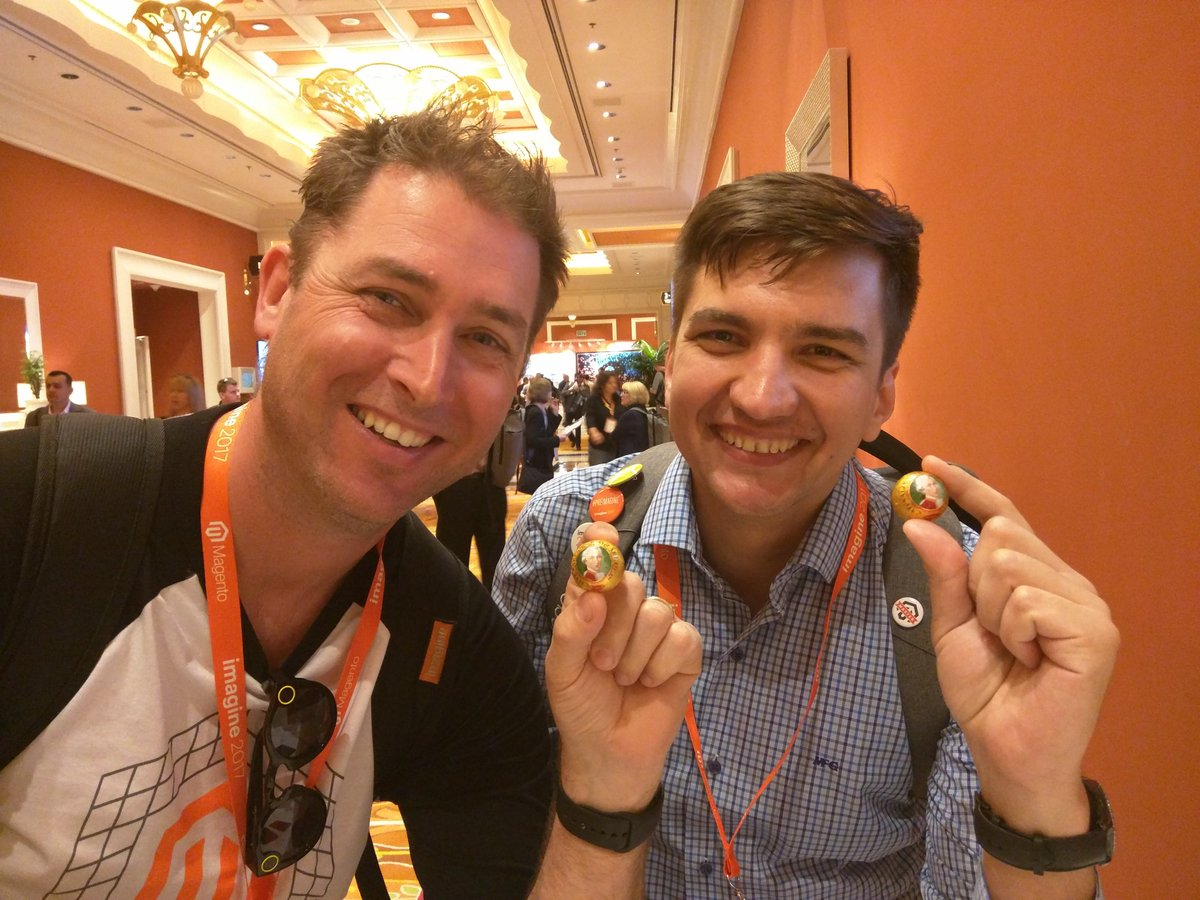 rescueAnn: 2 guys, 2 Mozartkugeln (Mozart balls). Find me if you want some Austrian sweets! #MagentoImagine https://t.co/l3MJMBkDOR