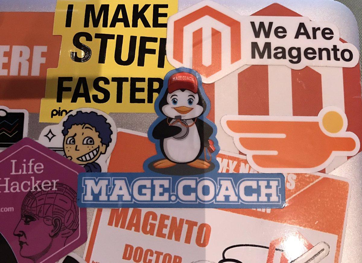 raybogman: @commercehero sticker made it 2 my laptop #runningOutofSpace 😱#Magentoimagine #realmagento https://t.co/qzUFFyGdF5