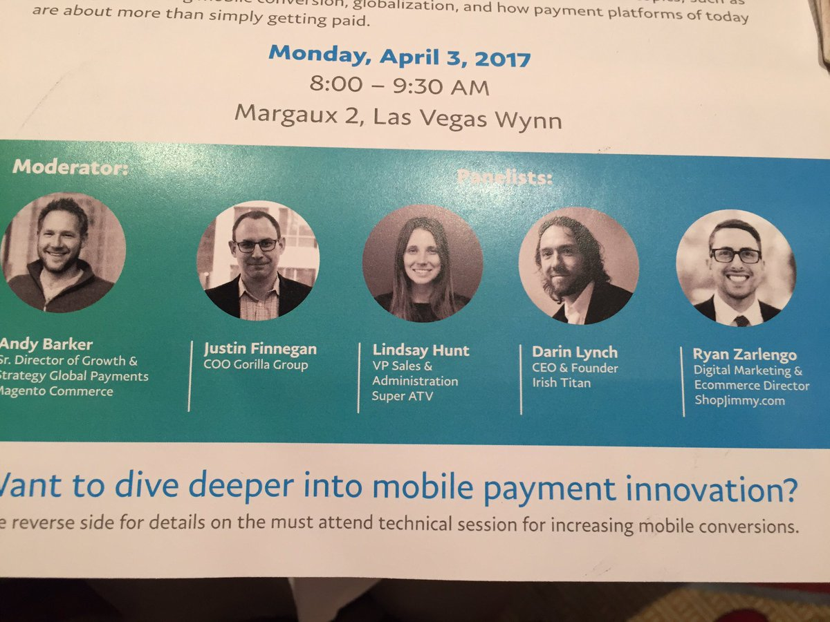 WebShopApps: Great @PayPalBusiness discussion to kick off #Magentoimagine - ton of content for SIs and merchants https://t.co/NmCxcIAEjV