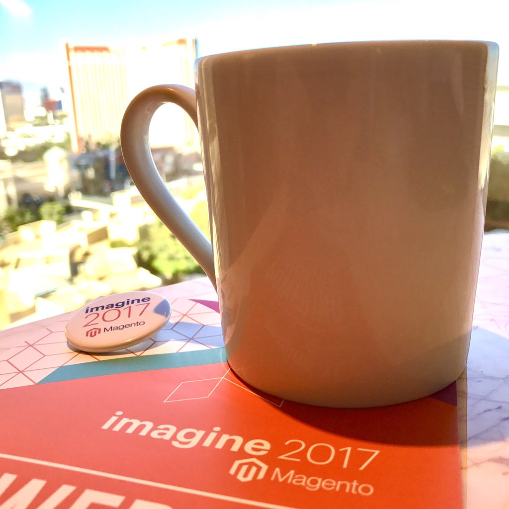 socialshark: The #MagentoImagine conference can officially begin, I have my coffee. 😃☕️👍🏼 https://t.co/F6DONJ3JxO