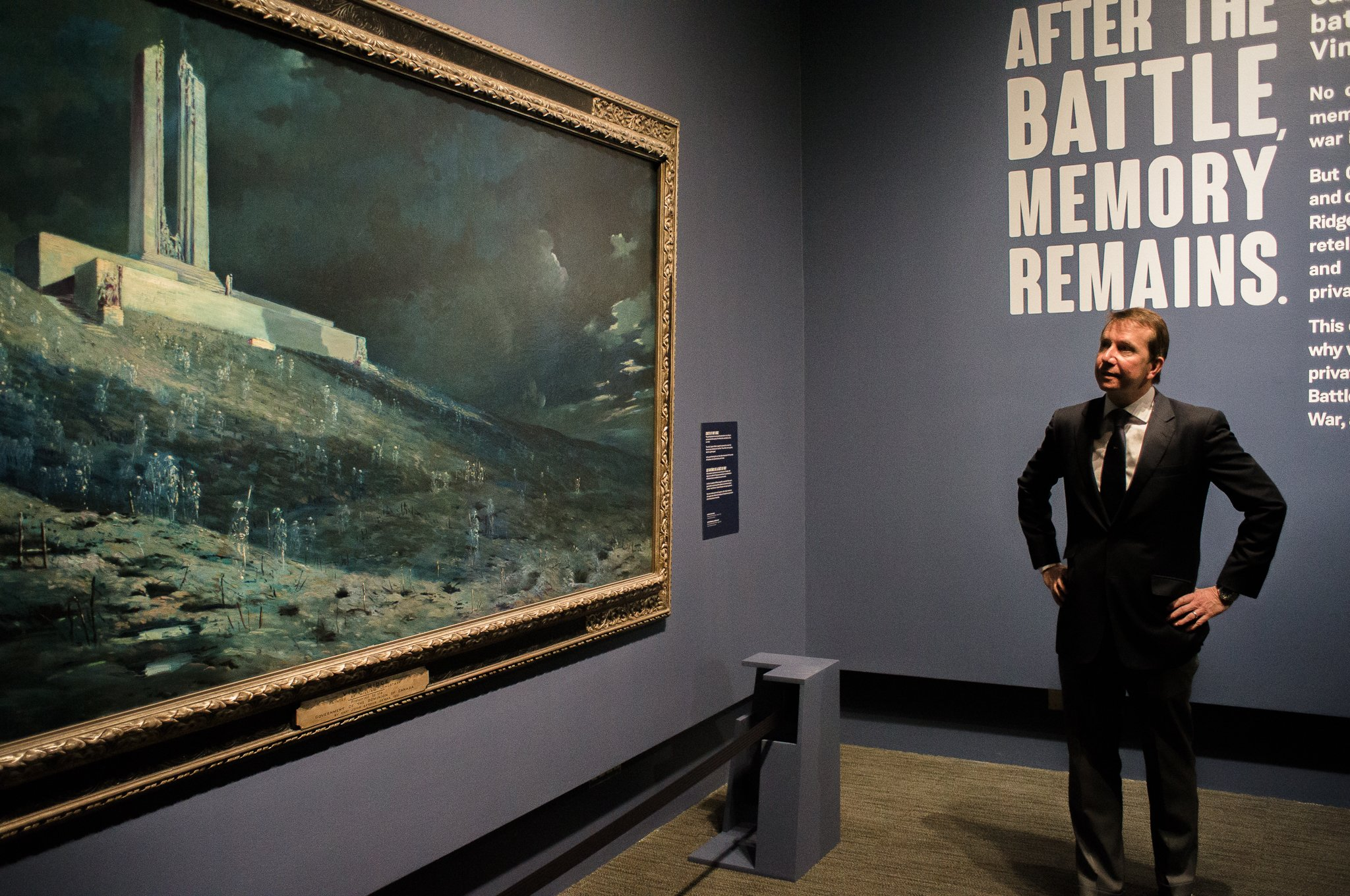 """Thank you @CanWarMuseum for this morning's tour of """"Vimy – Beyond the Battle,"""" an exhibit running April 6 - Nov 12 for #Vimy100. #BeyondVimy https://t.co/7oOczfp7oR"""