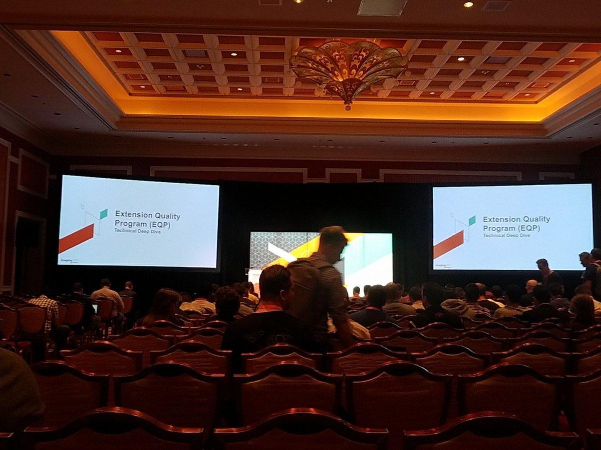 mattz_mg: EQP session getting ready to start.  #Magentoimagine #Magento https://t.co/JVj3UCLDHn