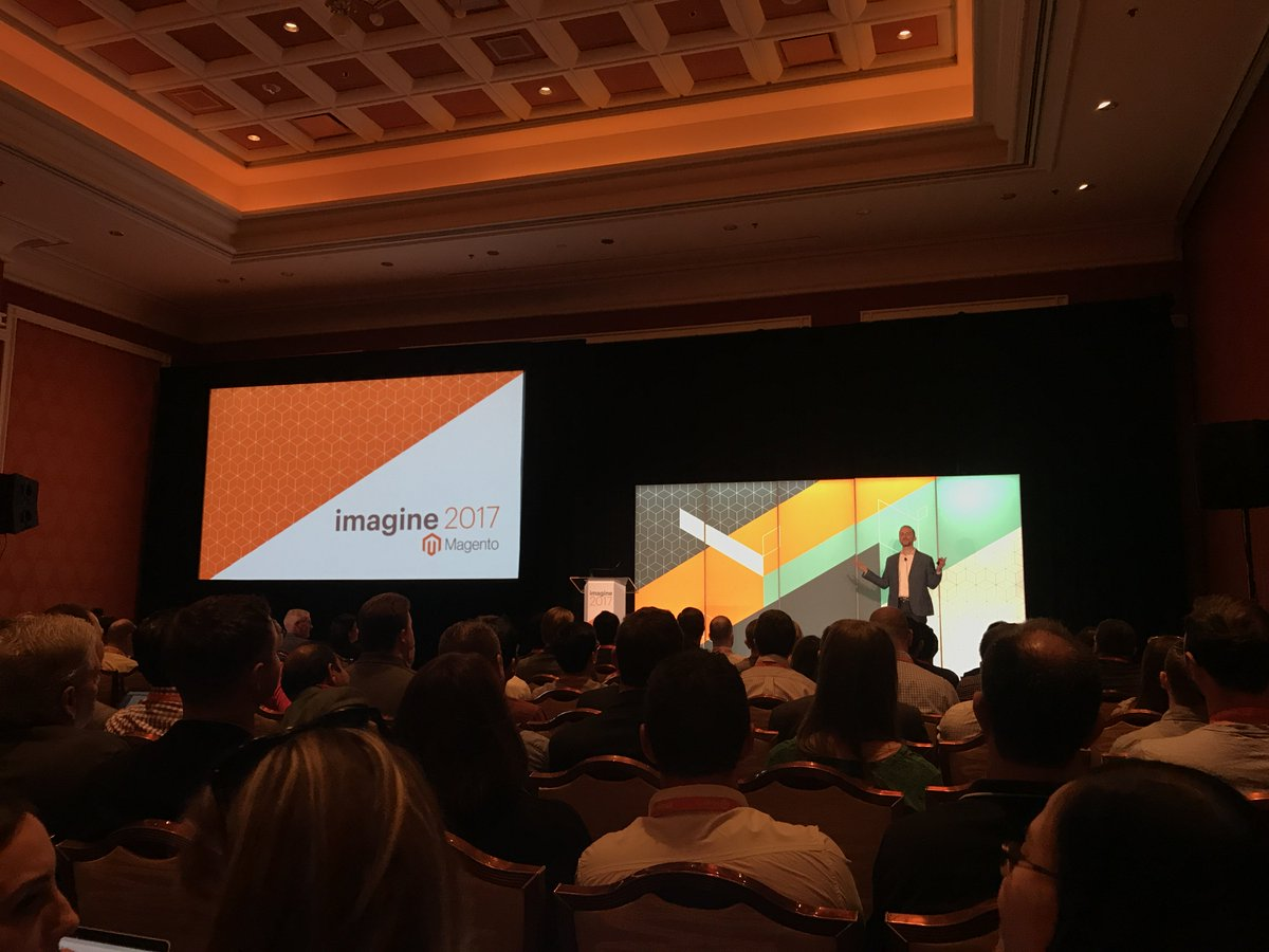 wearejh: Standing room only in @robertjmoore's talk on data and @magento business intelligence.  #MagentoImagine https://t.co/Xu0TFCllfI