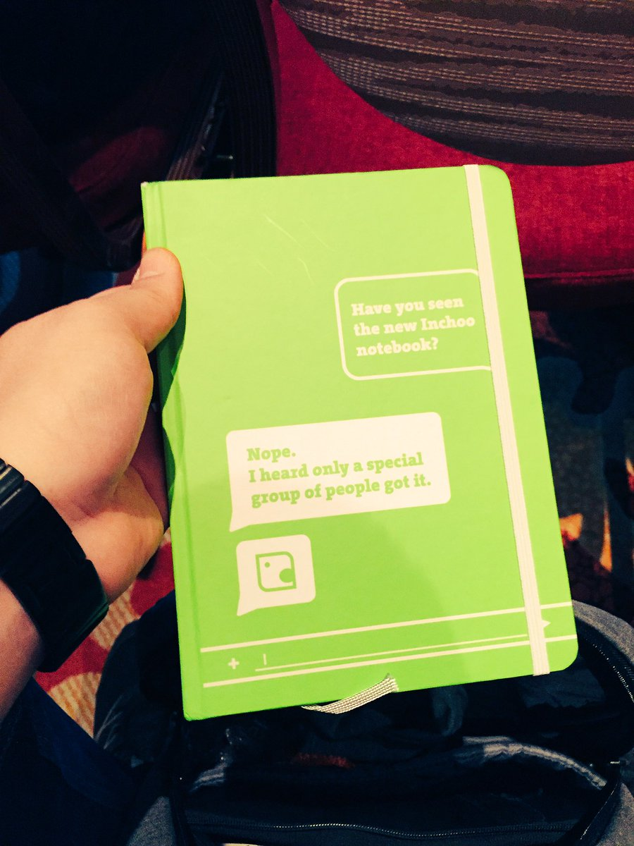 OSrecio: Take notes with .@inchoo notebook at Imagine is awesome #Magentoimagine #i4rules https://t.co/hHSjW3CY4c