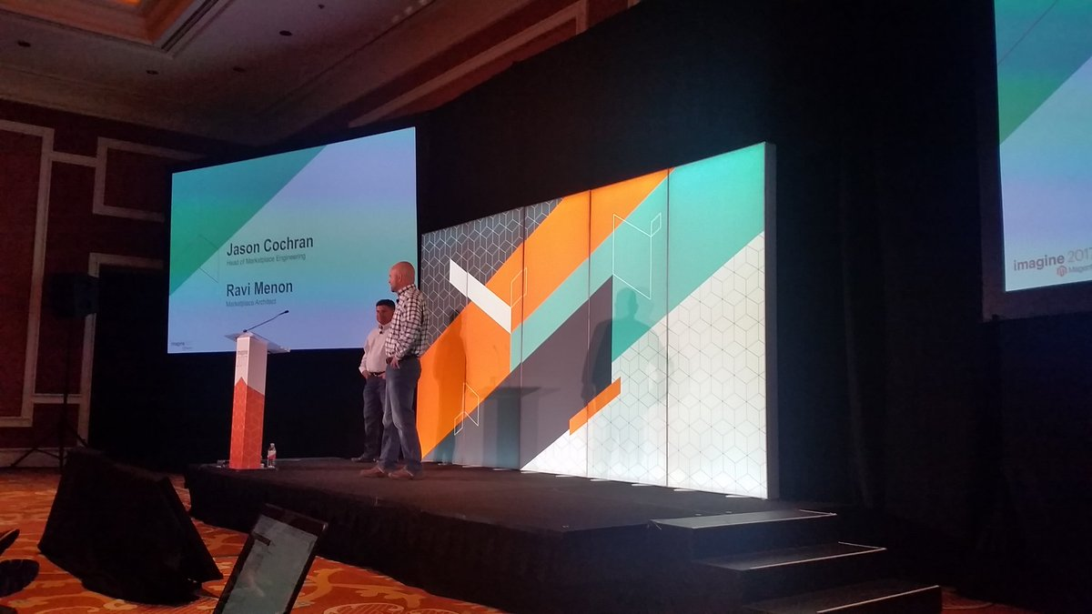 mzeis: First session of the day: #realMagento marketplace extension quality program #MagentoImagine https://t.co/lNy5hl5Y9f