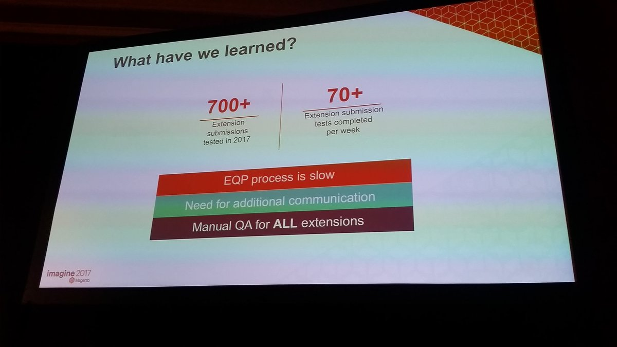 mzeis: Magento know some things can be improved in the extension quality program #MagentoImagine https://t.co/x5aiRttoCZ