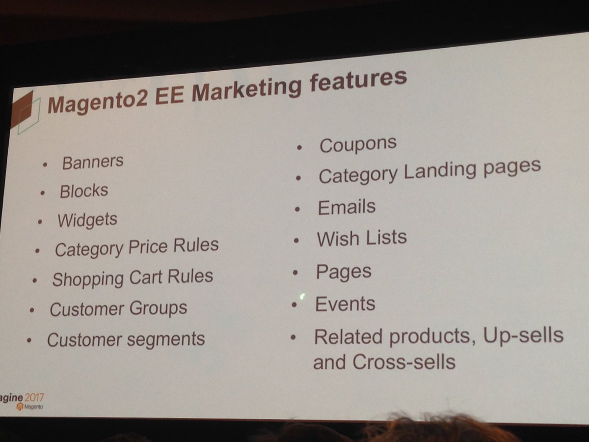 SheroDesigns: Understand your customer helps you set up a targeted campaign with the #magento2 features #MagentoImagine https://t.co/TteKzkzCFX